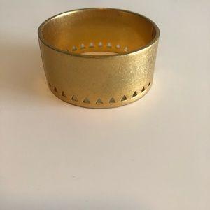 Madewell angle etch hinge cuff bracelet